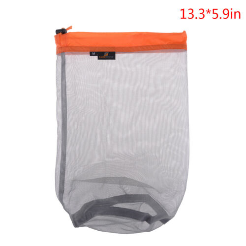 Outdoor Bag Ultralight Mesh Stuff Sack Camping Sports Drawstring Storage*BaBLUS