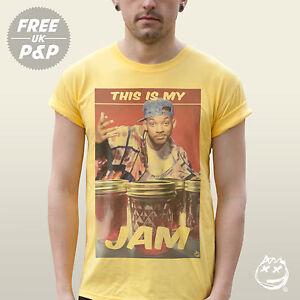 Ceci-est-mon-Jam-T-Shirt-Drole-Will-Smith-Slogan-Fresh-Prince-Swag-Hip-Hop-Tee