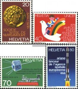 Schweiz-1161-1164-kompl-Ausg-gestempelt-1979-Jahresereignisse