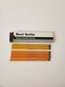 Berol-Verithin-Colored-Pencils-Yellow-And-Canary-Yellow-8-total