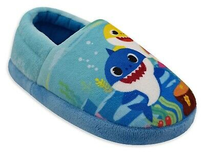 5-6 7-8 or 9-10 NWT BABY SHARK PINKFONG Plush Slippers House Shoes Toddlers Sz