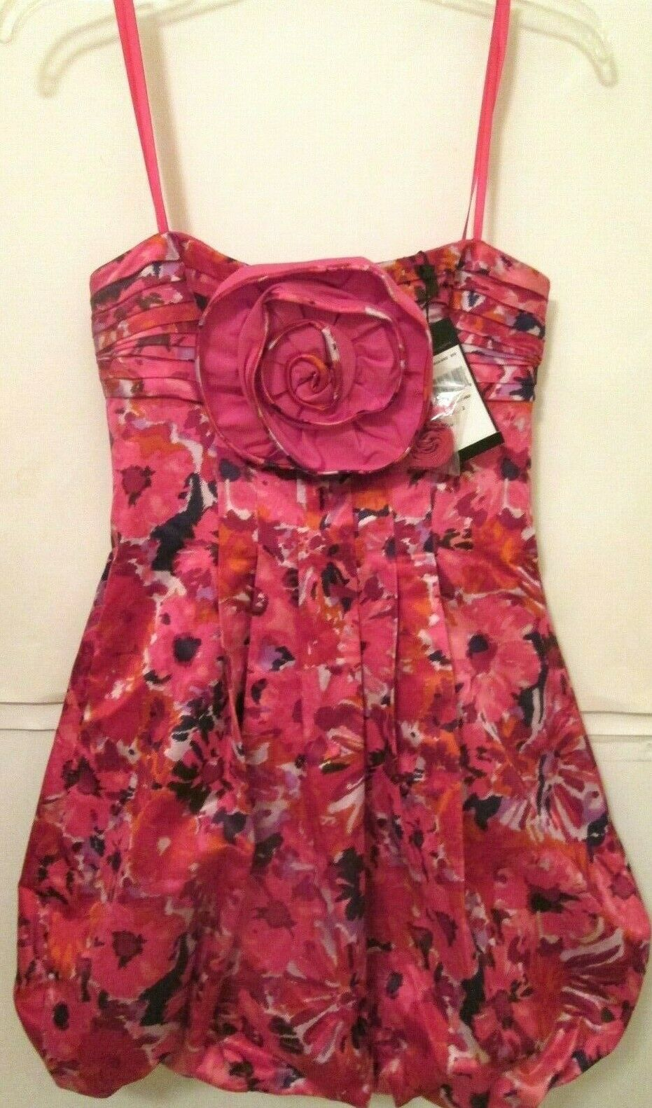 BCBG MAXAZRIA Ladies Size 2 Pink Floral Begonia Combo Strapless Dress  Nwts
