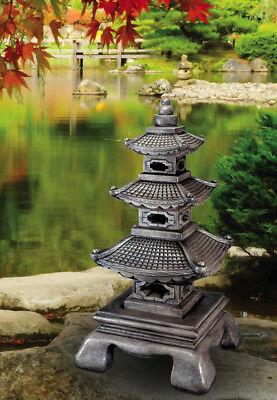 59 3 Tier Grand Pagoda House Concrete Cast Stone Garden Statue
