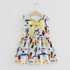 Toddler-Girl-Summer-Party-Wedding-Princess-Dress-Kids-Baby-Bow-Holiday-Sundress
