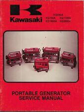 Kawasaki Portable Generator Models Kg550a Kg750a Kg1100a Kg1600a Service Manual