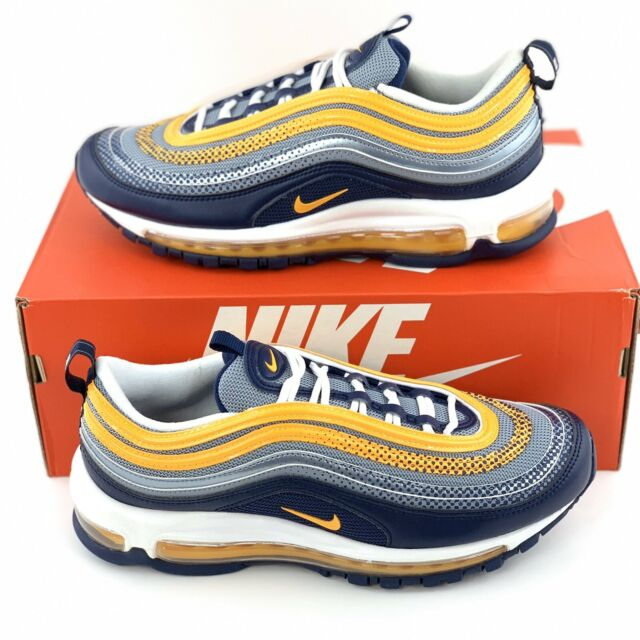 Nike Air Max 97 SE Men's Sneakers Shoes Midnight Navy Laser Orange AQ4126 401