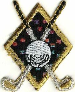 Toile Golf Clubs Balle Crest Broderie Brassage