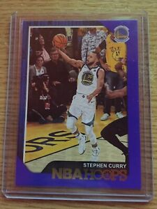 2018-19 Panini NBA Hoops Stephen Curry #15 Blue Parallel Refractor