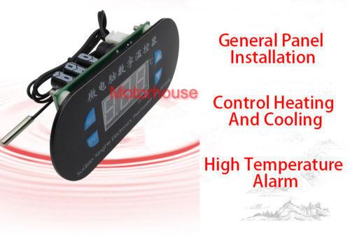 DC 12 V réglable ordinateur Numérique Thermostat Régulateur de température Interrupteur Rouge