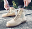 thumbnail 1 - Mens Fashion Riding Boots High Top Lace Up Round Toes Solid Autumn Ankle Booties