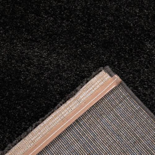 Wohnzimmer Teppich Weich /& Flauschig Seidiger Glanz in Grau// Anthrazit