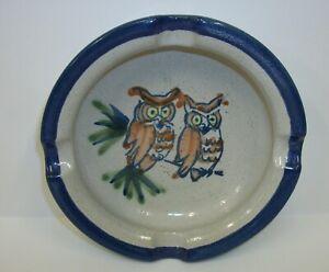 Louisville-Art-Pottery-Stoneware-Owls-on-Branch-Ashtray