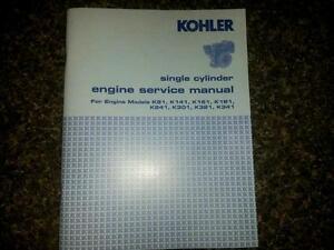 kohler engine service manual k181 k241 k301 k321 k341 repair shop rh ebay com Tecumseh K301 Kohler K301 Crankshaft