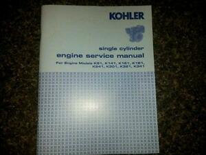 kohler engine service manual k181 k241 k301 k321 k341 repair shop rh ebay com Kohler K301 Points Kohler K301 Points