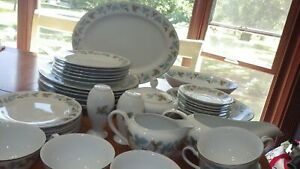 Fine China Dinnerware set Vintage by FINE CHINA OF JAPAN Service 6 Hostess 1967