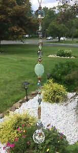 Healing Crystal Green Aventurine Stone Prism/Suncatch<wbr/>er W/Swarovski Elements USA