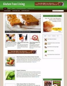 GLUTEN-FREE-LIVING-BLOG-amp-WEBSITE-WITH-UK-STORE-BANNERS-amp-FREE-DOMAIN