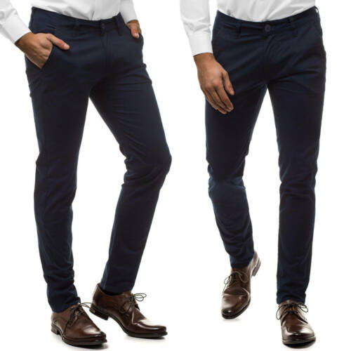 Chino Pants Tuta Pantaloni Business Regular Slim Fit Uomo Matrimonio OZONEE 10304 MIX