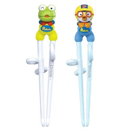 2 Pairs Learning Chopsticks Edison Training Chopsticks Helper for Kids