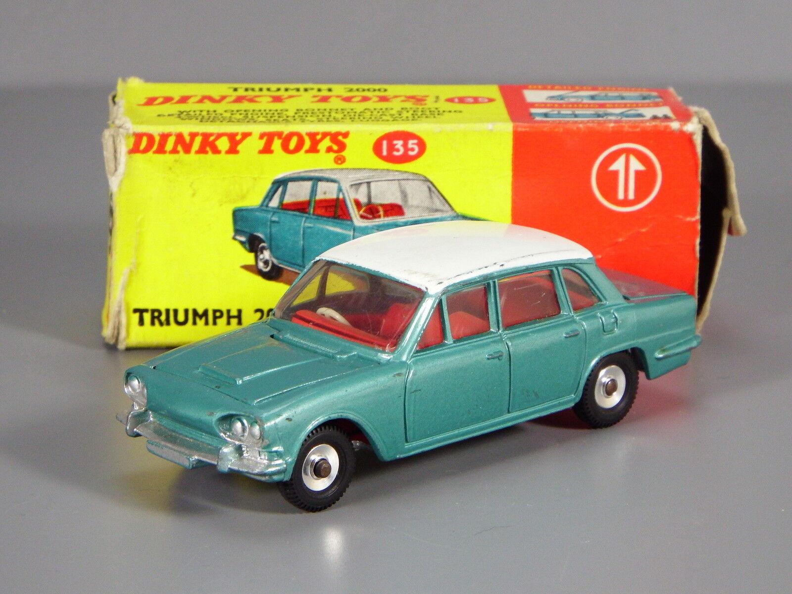 mejor calidad mejor precio Original dinky 135 TRIUMPH 2000, azul-verde, rojo Interior, En Caja Caja Caja  calidad auténtica