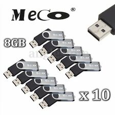 10PCS 8GB 8G MECO  USB 2.0 Flash Memory Drive Rotating Stick Pen Thumb U Disk