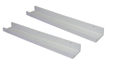 70cm weiß PP Kunststoff NEU+B-Ware 6712 2x Bilderleiste Bilderregal ca