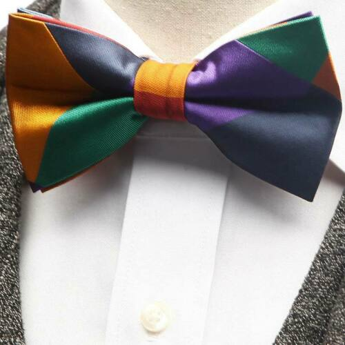 Luxury Mens Bow Ties Adjustable Man Bowties Butterflies Striped Plaid Butterfly