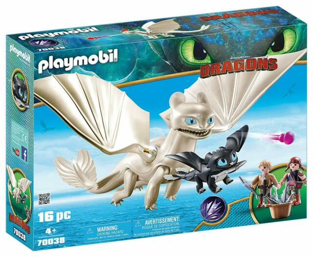 Playmobil 70038 Light Fury with Baby Dragon and Children