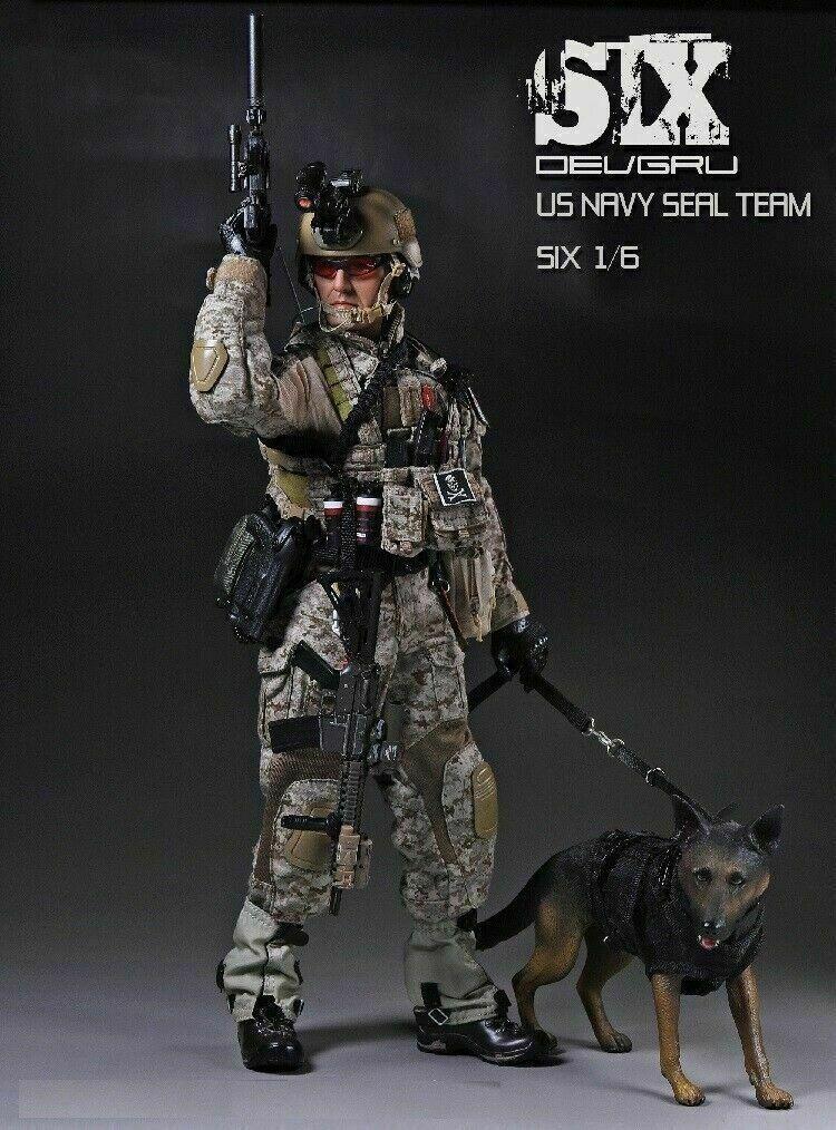 1 6 Jugarhouse ph US Military Navy Seal Team 6 soldado & juego de perro de juguete figura Personalizada