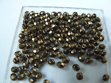 Lot de 50 perles à facettes 4mm or