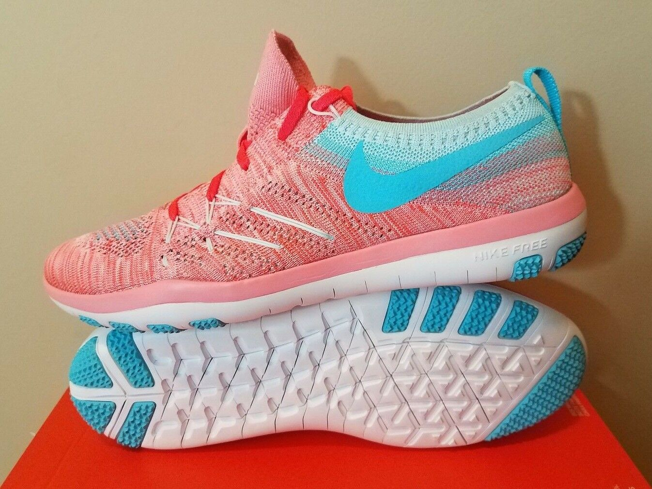 Womens Nike shoes Free Train Focus Flyknit Training Sneakers Running Workout NWT