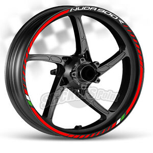 TIPO 1 wheels decals SET adesivi cerchi ruote HUSQVARNA stickers