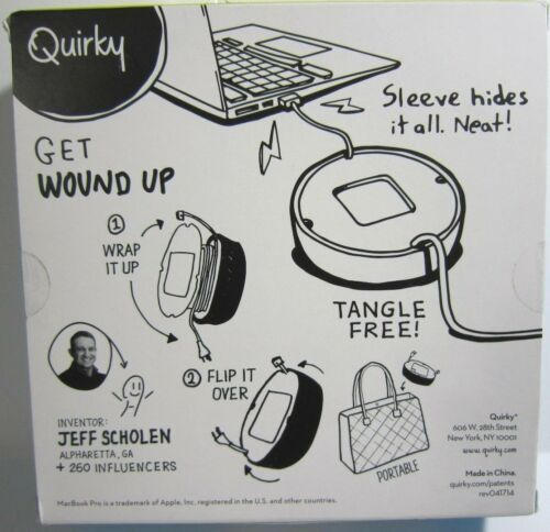 """Quirky Power Green Quirky Powercurl Power Cord Wrap for 13/"""" MacBook Pro Charger"""