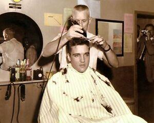 Elvis Presley Rei Do Rock Roll Exercito Corte De Cabelo 8x10 Foto