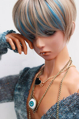 "BJD Doll Hair Wig 8-9""1/3 SD DZ DOD LUTS Multi-color Short Straight"