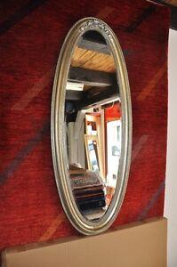 Wandspiegel oval 136x66cm antik silber verzierung spiegel neu ovalspiegel silber ebay - Spiegel oval silber ...
