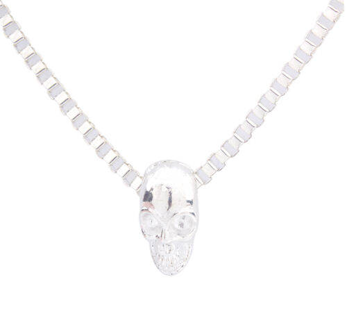 1PCS Bright Silver European Style Metal Bead Charm Chain Necklace