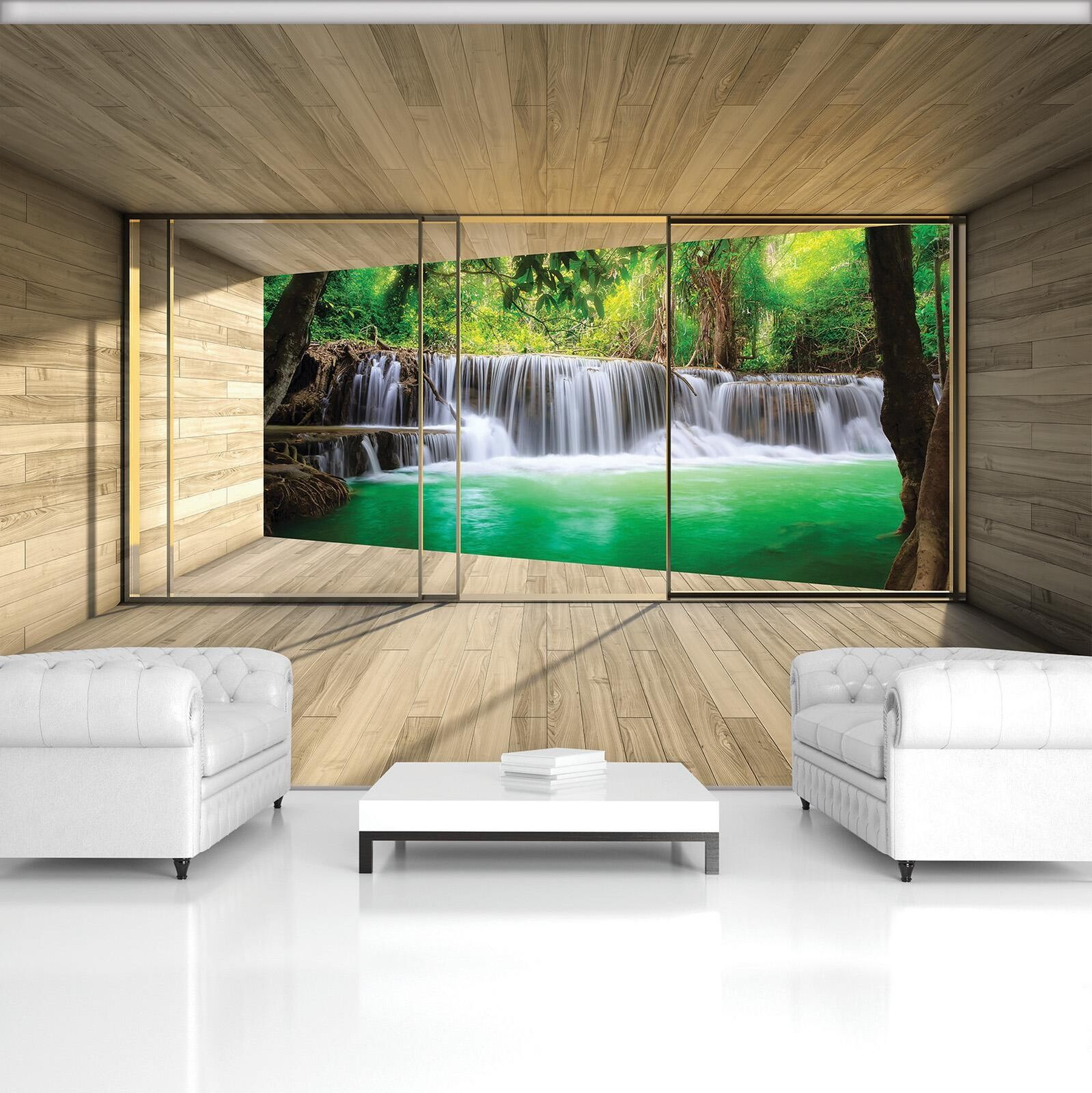 Photo Wallpaper Mural Non-woven 20029_VEN Waterfall Terrace View Nature Waterfal