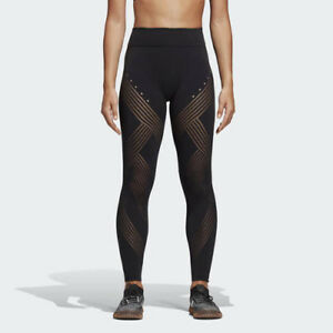 Details about Adidas DU0577 Women Training Warp Knit tights High Rise 78 pants black