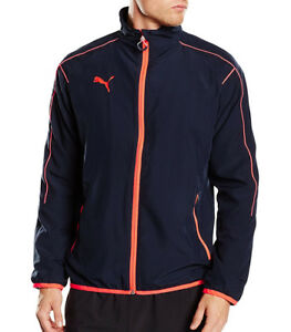 Fine Puma Evotrg Mens Running Jacket Blue Jackets & Vests Clothing, Shoes & Accessories