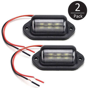 2X-Universal-LED-License-Number-Plate-Light-Lamps-for-Truck-SUV-Trailer-Lorry