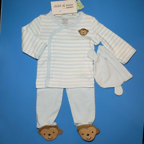 BABY BOY/'S 3-PC LS OUTFIT SET *NWT- CARTER/'S SIZES: NB 3-6M