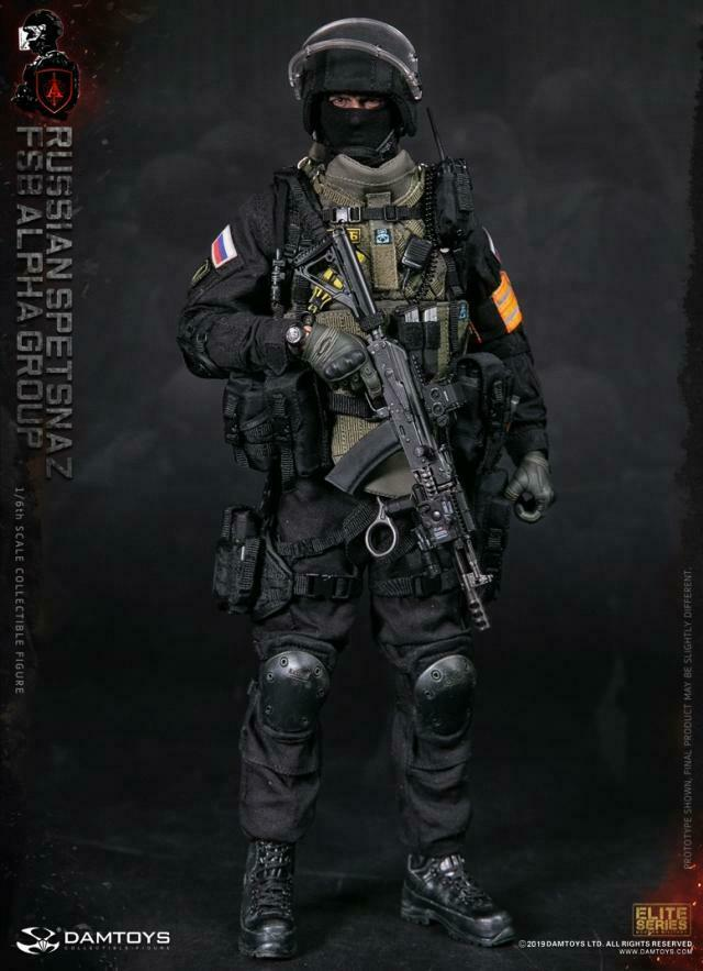 1 6 DAMTOYS 78064 ruso SPETSNAZ FSB ALPHA GROUP Solider figura completo Set