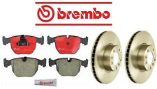 NEW BMW E39 540i 1997-2000 Complete Front Disc Brake Pads KIT With Rotors Brembo