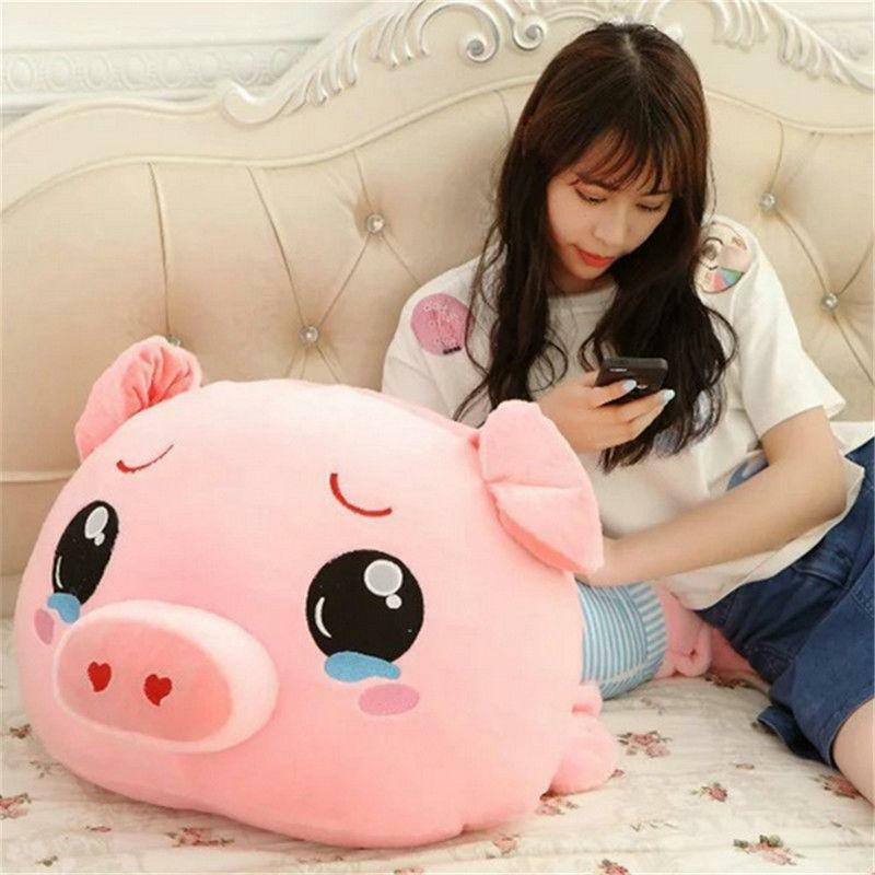 Shirt Pig Plush Soft Stuffed Animal Toy 39'' Giant Big blu Doll Pillow Kid Gift