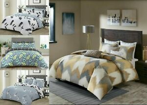 Double-Super-King-Size-duvet-Cove-100-Algodon-Acolchado-Reversible-Cama-Set-Impresion