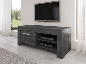 Meuble-TV-Armoire-Bas-Rome-120-cm-Chene-Noir