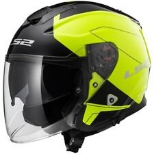 LS2 Verso OF570 Solid White Motorcycle Motorbike Open Face HelmetAll Sizes