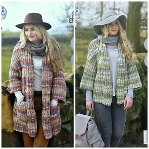 Knitting Pattern Donna Facile Knit 34 Sleeve Giacca O Cappotto