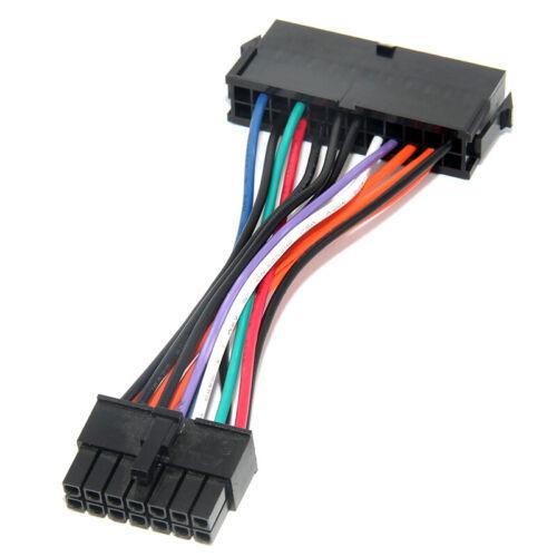 24Pin to 14Pin PSU Main Power Supply ATX Adapter Cable for Lenovo Q77 B75~JG